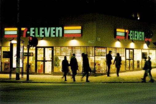7-eleven: Kvällseffekt på neonskylt profil 5.