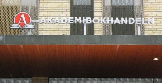 Akademibokhandeln i Farsta C. Så levererade vi 3st diodskyltar, utomhus och inomhus.