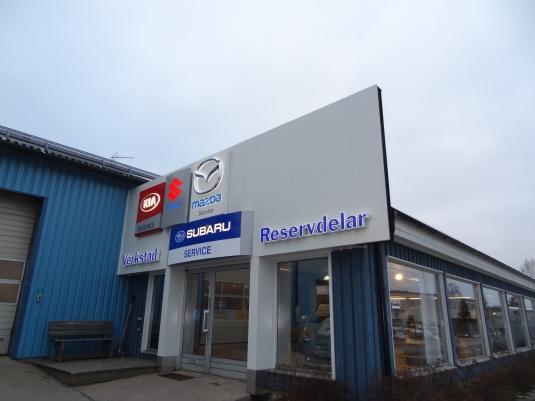 Torvalla Bil: I sammarbete med A&S reklam så tillverkade vi detta. LED skyltar samt montage av lysrörsskyltar.