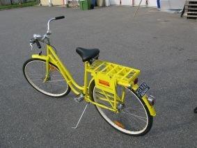 Sandvik: Vi har lackerat om Kronans cykel och monterat text och logotype.
