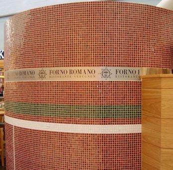 Med samarbete med London W8 Simon & Tomas så har vi levererat foliedekor till Forno Romano.