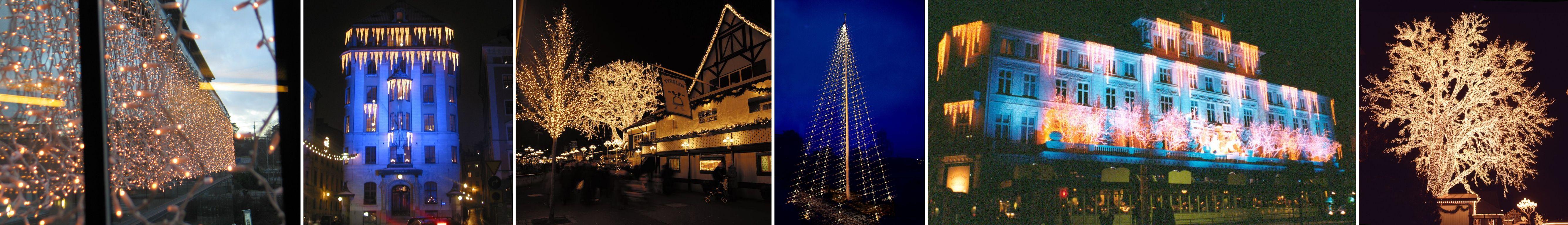 Juldekoration, trädbelysning,kedjebelysning,draperier led, B22 ledlampa,E27 led,flaggstångsbelysning,fasaddekoration, LD 70,julgransbelysning.