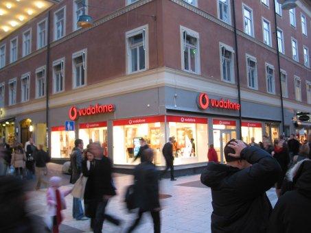 Vodafone. Neonskylt Profil 6.