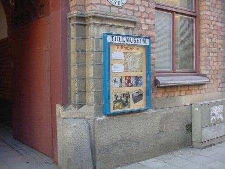 Tullmuseum: Informationsskåp.